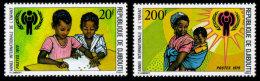 Djibouti, 1979, International Year Of The Child, MNH Perforated Set, Michel 241-242 - Djibouti (1977-...)