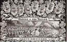 Année Date Millesime Militaire - 1917 Gloire à Nos Poilus, Les Généraux Dans Les Houx - Patriottiche