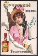 Image Chromos Publicitaire Potages MAGGI - Editée Vers 1890 - Vecchi Documenti
