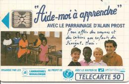 CARTE°-PUCE-PRIVEE-PUBLIC- 50U-EN504-SC4-12/92-ALAIN PROST-Aide A Apprendre-R°Mat-UTILISE-TBE - France