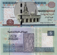 EGYPT       5 Pounds       P-New       20.4.2015       UNC - Egypte