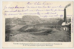 1 - Vue Des Charbonnages D'une Nouvelle Paroisse Fondée En L' Honneur De N.-D. De Lourdes à Quaregnon - Quaregnon