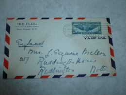 Lettre Amérique New York 1930 (england - Usa) - Timbres