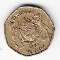 1991 Botswana 1 Pula Coin - Botswana