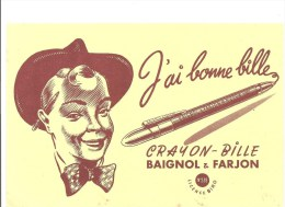Buvard BAIGNOL & FARJON J´ai Bonne Bille Crayon-Bille BAIGNOL & FARJON - Stationeries (flat Articles)