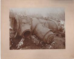 """ORIGINALFOTO """"Eisenbahnungl�ck Lok 151 am 2.2.1902 bei Deutschlandsberg"""" Format 19,7 x 14,9 cm"""