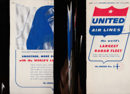 DOC2) UNITED AIRLINES  HALF TIMETABLE 1957 HALF ONLY - Aviazione Commerciale