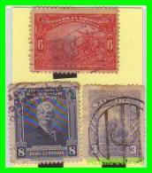 EL SALVADOR   3 SELLOS DIFERENTES    AÑO 1921 - El Salvador