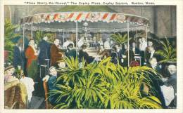 """BOSTON - """"Plaza Merry-Go-Round"""", The Copley Plaza, Copley Square - Boston"""