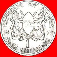 ★WITH LEGEND: KENYA ★ 1 SHILLING 1975! LOW START★NO RESERVE! Mzee Jomo Kenyatta (1964-1978) - Kenya