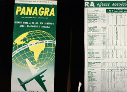 DOC2) PANAGRA PAN AMERICAN GRACE AIRWAYS HALF TIMETABLE 1954 HALF ONLY TIMETABLE - Aviazione Commerciale