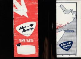 DOC2) EDEN AIRWAYS HALF TIMETABLE 1954? HALF ONLY TIMETABLE - Non Classificati