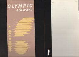 DOC2) OLIMPIC  AIRWAYS CARDBOARD  1954? - Aviazione Commerciale