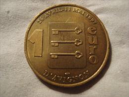 MEDAILLE 1 EURO DU PONT D AVIGNON 1997 - Tourist