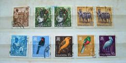 Uganda 1962 - 1965 Cotton Tobacco Coffee Buffalo Birds - Oeganda (1962-...)