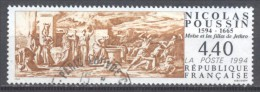 France YT N°2896 Nicolas Poussin Oblitéré ° - Gebraucht