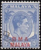 "STRAITS SETTLEMENTS - Scott #265 King George VI ""Overprinted"" (*) / Used Stamp - Malaya (British Military Administration)"