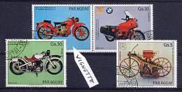 PARAGUAY 1984, MOTOS, 3 Valeurs + Vignette, Oblitérés. R967 - Motos