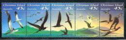 "Christmas Islands     ""Sea Birds""   Set    (strip Of 5)     SC# 349   MNH** - Christmas Island"