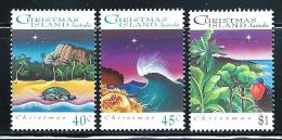 """Christmas Islands     """"Christmas 1993""""      Set    SC# 354-56   MNH** - Christmas Island"""