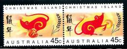 "Christmas Islands     ""Year Of The Rat""      Set    (pair)    SC# 376-77a   MNH** - Christmas Island"