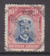 Southern Rhodesia, 1924, George V, Admiral, 6d Blue & Vermillion, Used, Revenue / Fiscal - Southern Rhodesia (...-1964)