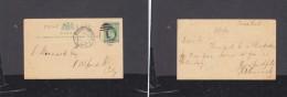 """Natal: Edward VII, 1/2d Postal Card, Used BONC """"1"""" + PIETERMARITZBURG JA 2  04 To Port Alfred - Afrique Du Sud (...-1961)"""