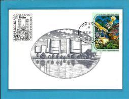 WIEN - VEREINTE NATIONEN - U 1400 - Köln - Philatelia - 1991 - ONU - UNO - UNPA - Cartes-maximum