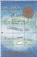 1987 US Virgin Islands Map , Archipel In The Caribbean Sea, Carte, Mapa, Karten MNH - Géographie