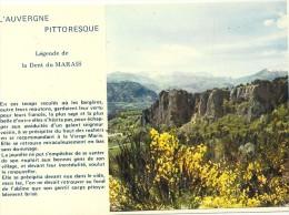 .CPM. L AUVERGNE PITTORESQUE . LA LEGENDE DE LA DENT DU MARAIS + HISTOIRE . NON ECRITE - France