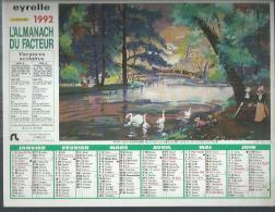 ALMANACH DU FACTEUR 1992 ( CALENDRIER ) LE BOIS DE BOULOGNE / L'ARC DE TRIOMPHE - Calendriers