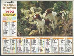 ALMANACH DU FACTEUR 1993 ( CALENDRIER ) POINTERS / SCENE DE CHASSE - Calendriers