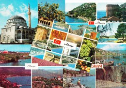 10 MULTIVIEW  POSTCARDS:  ALANYA   - Turkey/Türkiye -   -  (3 Scans) - Turkije