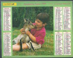 ALMANACH DU FACTEUR 1995 ( CALENDRIER )  GARCON ET CHEVREAU / LE REPAS DE LA BASSE-COUR - Calendriers