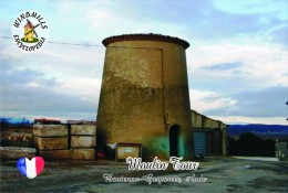 Carte Postale, Moulin A Vent, Windmills Encyclopedia, France, Moulin Tour, Boutenac-Gasparets (Aude) - Moulins à Vent