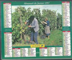 ALMANACH DU FACTEUR 1997 ( CALENDRIER )  VENDANGES / MOISSON DU SEIGLE - Calendriers