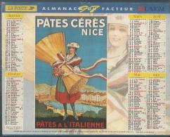 ALMANACH DU FACTEUR 1997 ( CALENDRIER )  AFFICHE: PATES CERES NICE / CIRAGE JACQUOT & Cie - Calendriers