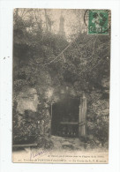 Cp , 85 , Environs De FONTENAY LE COMTE , La Grotte Du R.P. MONTFORT , Voyagée 1908 - France