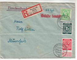 R-Brief Kuvert Aus Murrhardt, Innerort Gelaufen, Marken Mit Gebühr Bezahlt, Seltene Destination, 1946 - Gemeinschaftsausgaben