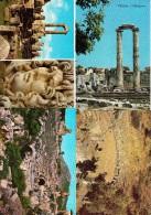 7 UNUSED  POSTCARDS:  Turkey/Türkiye - OLD TEMPLES / THEATRES, HISTORY Etc.    -  (3 Scans) - Turkije