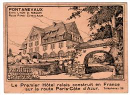 HOSTELLERIE DES COMPAGNON DE JEHU PONTANEVAUX LE PREMIER HOTEL RELAIS CONSTRUIT EN FRANCE SUR LA ROUTE PARIS-COTE D'AZUR - Cartes De Visite