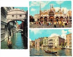 6 OLD UNUSED POSTCARDS : VENEZIA  - (Italia)  - 3 Scans - Venezia