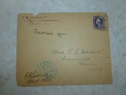 Lettre Censure Amérique Paris 1945 (ecrite Un Peu Avant Son Décès) - Amérique Centrale