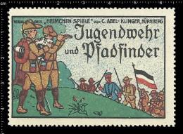 Old Original German Poster Stamp (advertising, Reklamemarke) Pfadfinder Scout Jamboree - Scouting