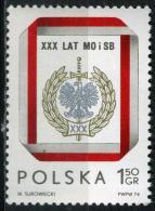 POLOGNE 2184** 1z50 Gris, Rouge Et Or 30ème Anniversaire De La Milice Civile - 1944-.... République