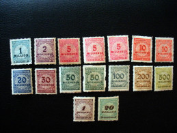 Lot De 16 Timbres Deutsches Reich 1923 Inflation (Millionen, Milliarden) - Germany