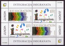 """BOSNIA/Bosnien Kroatische Mostar, EUROPA 2006 """"Integration"""" Block** - 2006"""