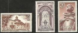 España 1976 Edifil 2375/7 Sellos ** Monasterio San Pedro De Alcantara Vista General, Interior Y San Pedro Completa Spain - 1931-Hoy: 2ª República - ... Juan Carlos I