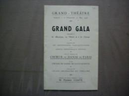 SAINT QUENTIN AISNE 11 ET 12 MAI 1946 GRAND-THEATRE GRAND GALA MUSIQUE CHANT ET DANSE ORGANISE PAR LES ORPHEONISTES SAIN - Programmes