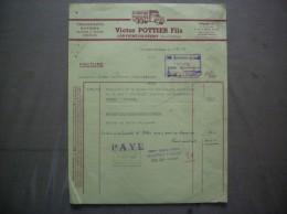 LOUVIGNE DU DESERT ILE ET VILAINE VICTOR POTTIER FILS TRANSORTS RAPIDES FACTURE DU 5/10/63 - Transports